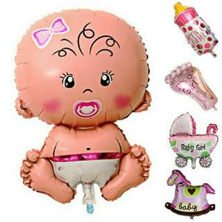 Set 5pcs Baby shower balloon (girl)