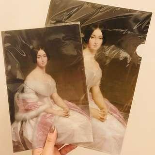 藝術布蘭濟夫人肖像資料夾/筆記本
