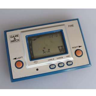 Nintendo Game And Watch Fire 1980 Rare Vintage Original Retro Handheld Game Console