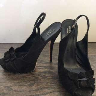 Gucci Suede Black Heels