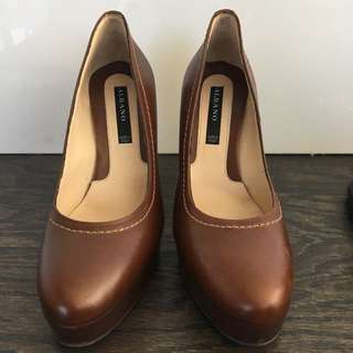 Brown Leather Shoes Made In Italy