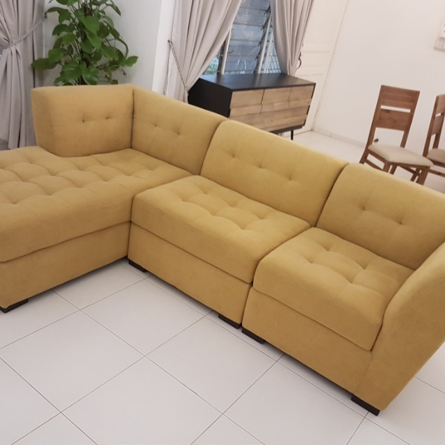 4 Piece Sectional Sofa Furniture Sofas On Carousell