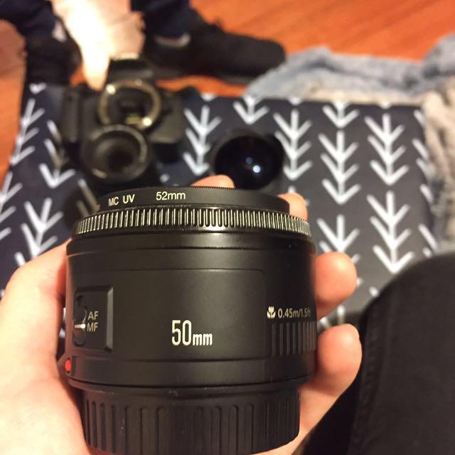 50mm canon camera lens