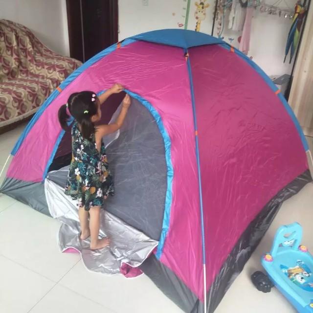 粉紅自動帳篷