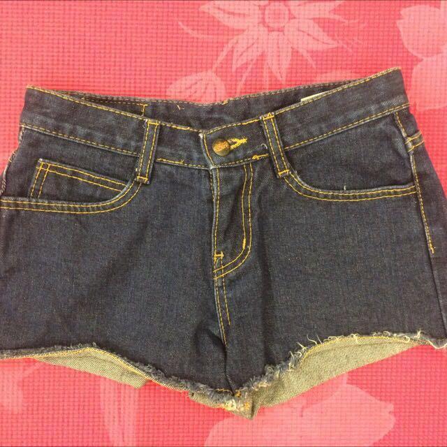 正韓 Aura深藍色26(S)號 夏季必備短褲