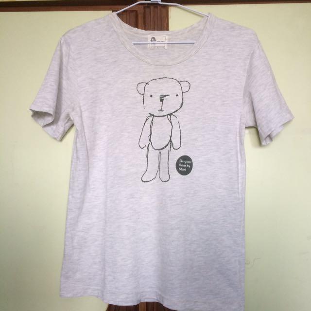 小熊短袖上衣 尺寸F