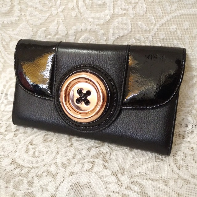 👝 MIMCO - Lustre Button Wallet (Black)