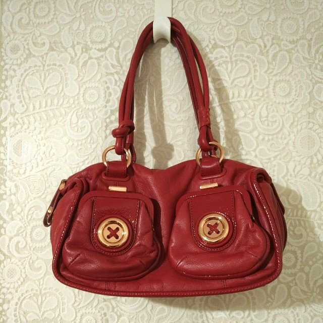 👜 MIMCO - Mini Metal Button Zip Top (Mars Red)