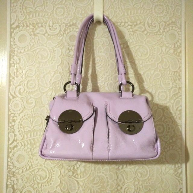 👜 MIMCO - Patent Turnlock Zip Top (Amethyst)
