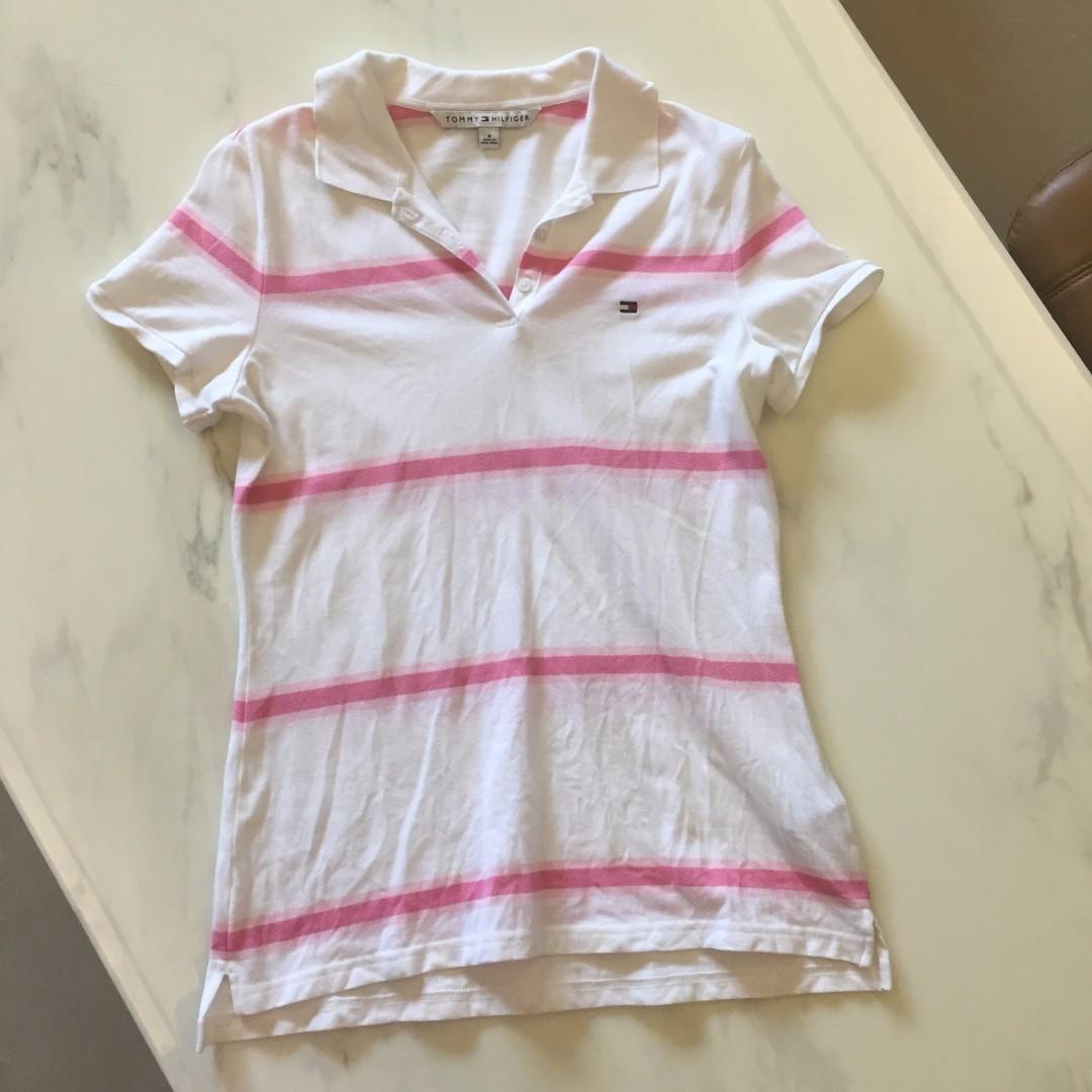 二手 Tommy Hilfiger 條紋 白色 polo衫