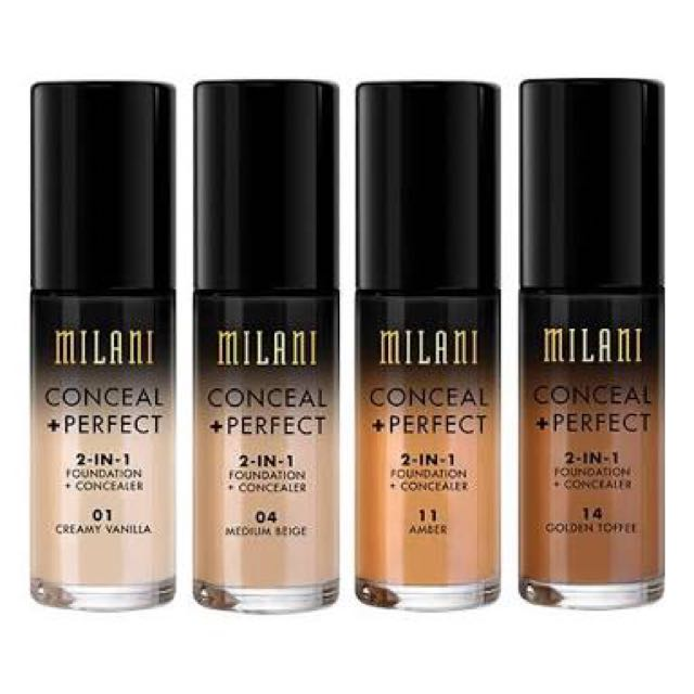 MILANI CONCEAL + PERFECT 2 IN 1 FOUNDATION + CONCEALER