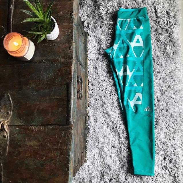 Adidas Green Print Leggings