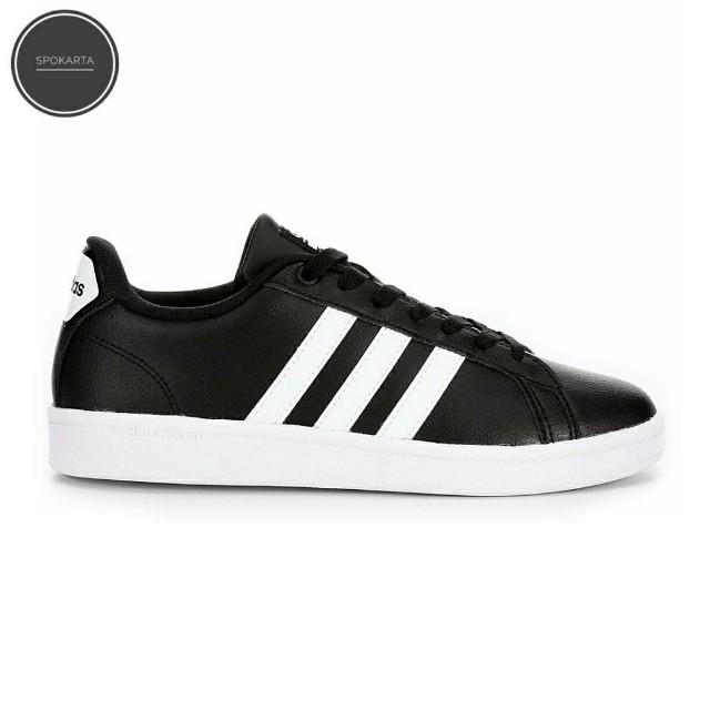 Adidas Neo Advantage Black Strip White Leather 5c9c74aa4a