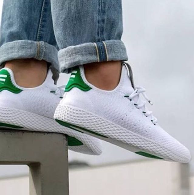 56790e5a265 Adidas X Pharell Williams Tennis Hu White Green on Carousell