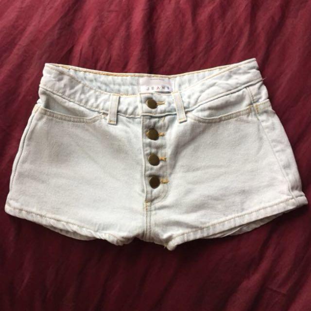 American Apparel denim shorts size 24
