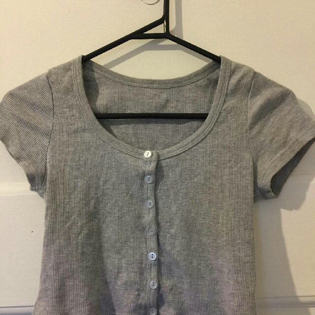 American Apparel grey crop top- size small