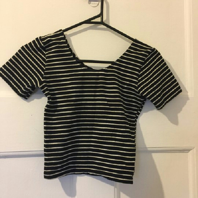 American apparel striped crop size small
