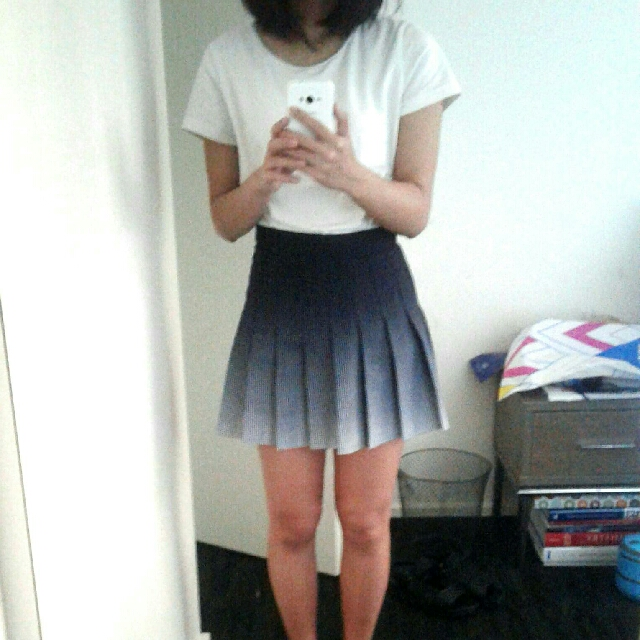 American Apparel Tennis Skirt (Ombré)