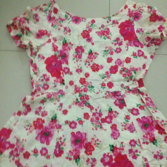 Asos Flower Dress, Dress Bunga Size Uk 16