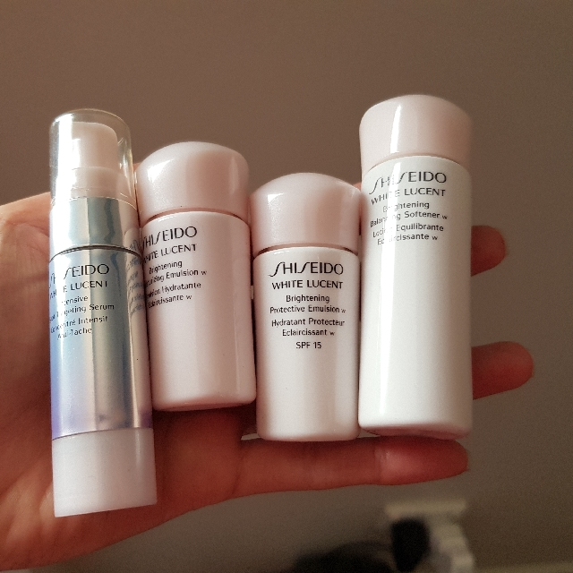 Auth Shiseido White Lucent skin care samples