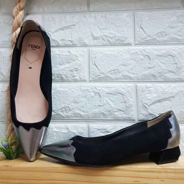 Two Toned Pointed Ballet Flats