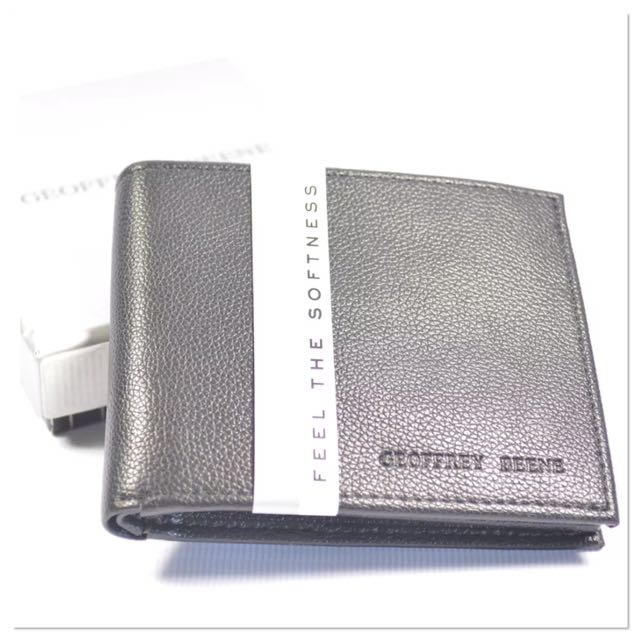 0a27b490f650 ✓ 💯Authentic Geoffrey Beene Black Leather Wallet for Men