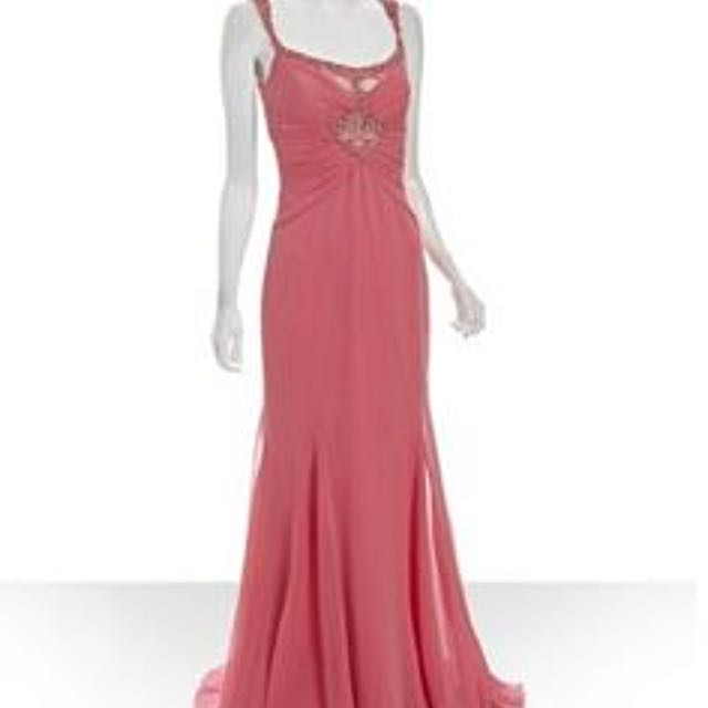BADGLEY MISCHKA - Embellished Gown in Salmon Pink, Luxury, Apparel ...