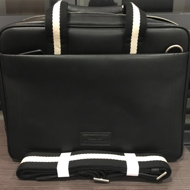 916d314ef4 Bally New Authentic Black calf leather Tedal  laptop bag.