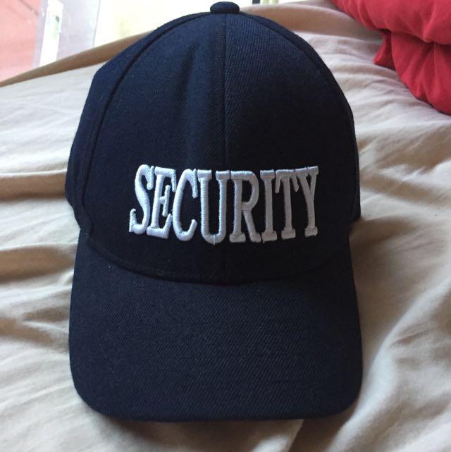 black white cap hat