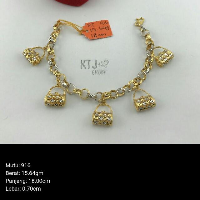 302e3f2089c6 Bracelet rantai tangan kendi gantung handbag