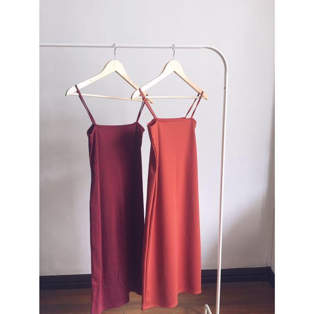 BRAND NEW maroon slip dress