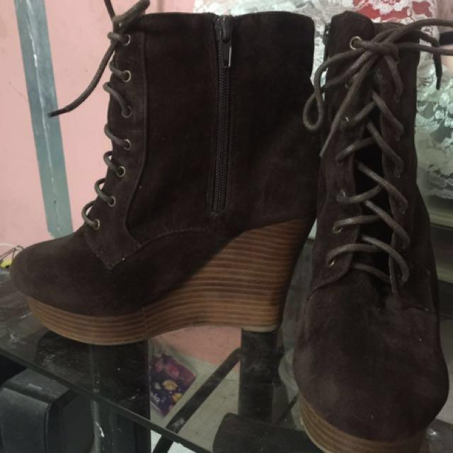 Brown gamuza boots elvis luce frm.japan