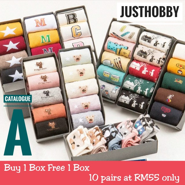 [Buy 1 Box Free 1 Box] Cute Sock