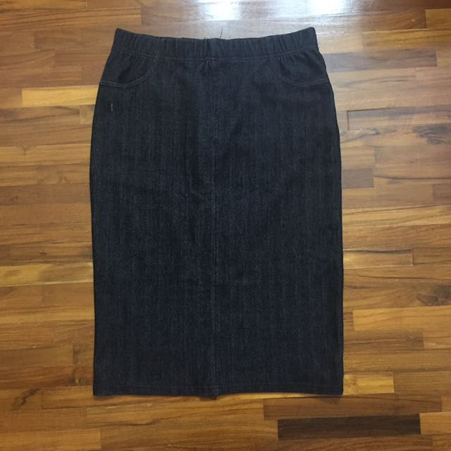 [charity] Seed Denim Pencil Skirt M-L
