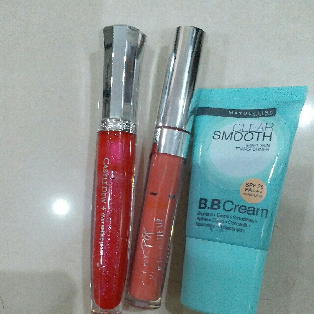 Colorpop Shade Donut 6F02  Lipgloss Castledew Maybeline Clear Smooth Shade 02 Natural