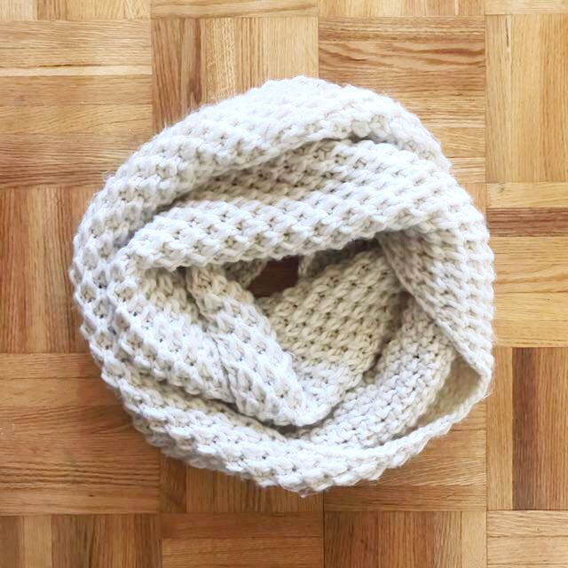 creme infinity scarf