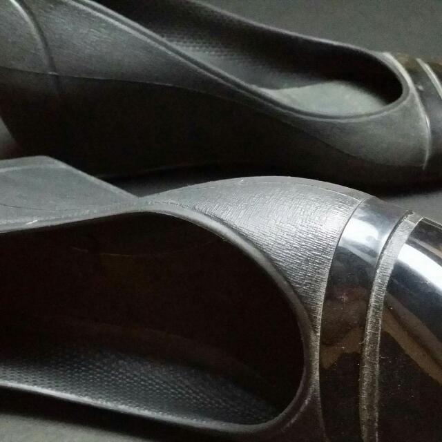 Crocs Black Wedge