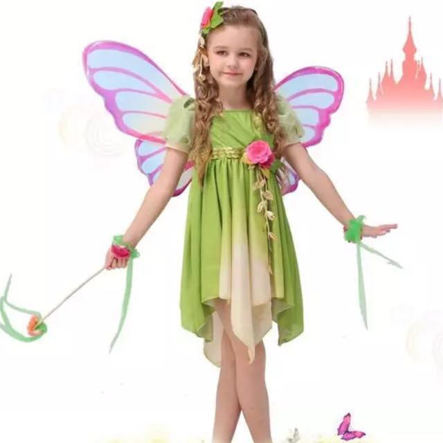 b67baa65b Cute Green Butterfly Fairy Pixie Cosplay Halloween Birthday Party ...