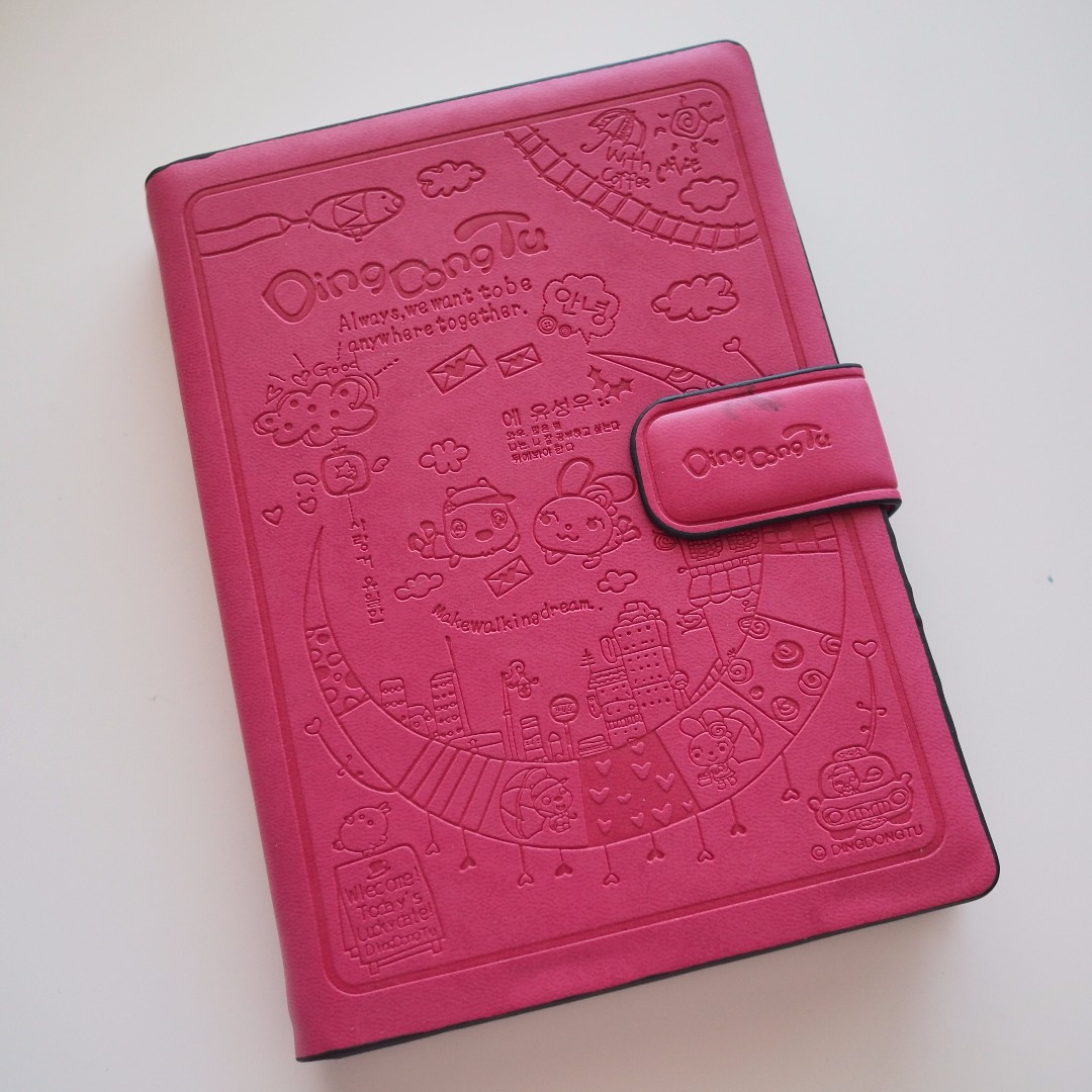 Cute Pink Hardcover Notebook