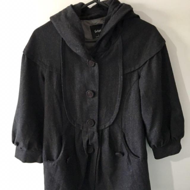 Dark grey woollen jacket- size 8