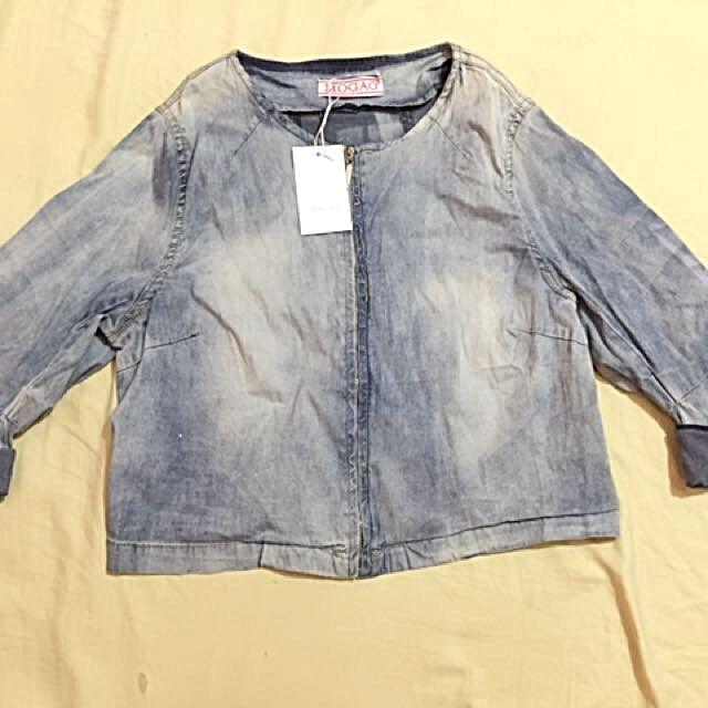 Denim Croptop Longsleeve/jacket