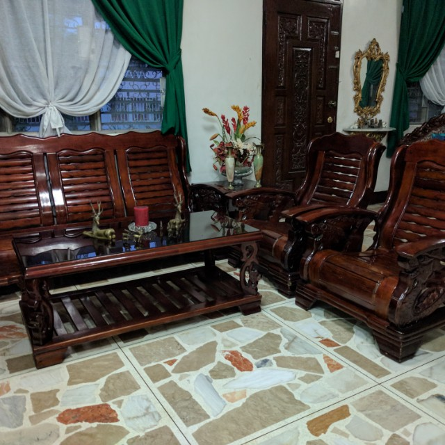 Dragon Sala Set Wooden Couch Sofa Set Home Furniture On Carousell