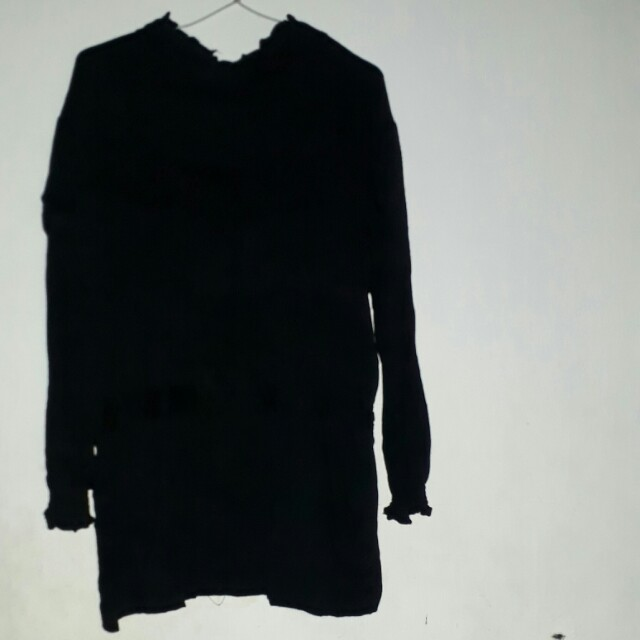 Dress hitam tebal