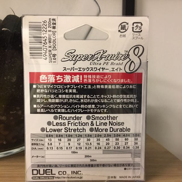 DUEL Super X-Wire 8 Fishing Line
