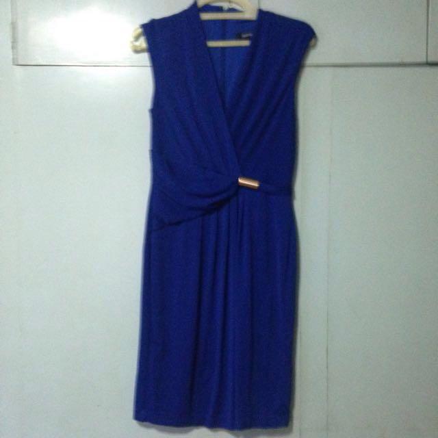Ellen Tracy Blue Work Dress