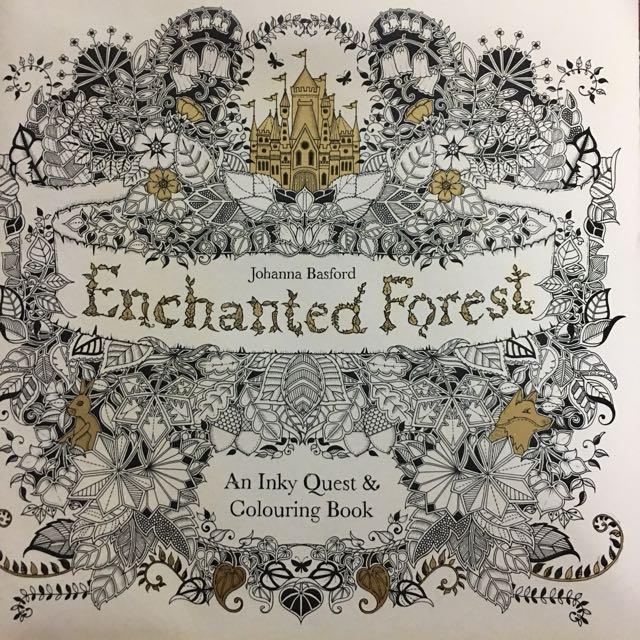 Enchanted Forest Inky Quest Colouring Book Design Craft