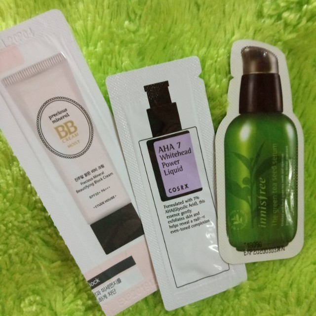 Etude House, Cosrx, Innisfree Sample