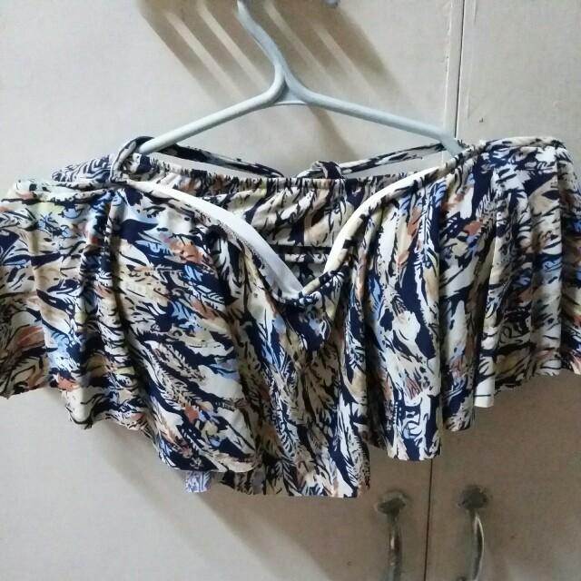 Feather Print Two-Piece Bikini