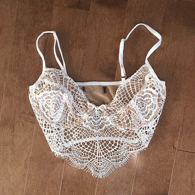 For love and lemons white lace bralette
