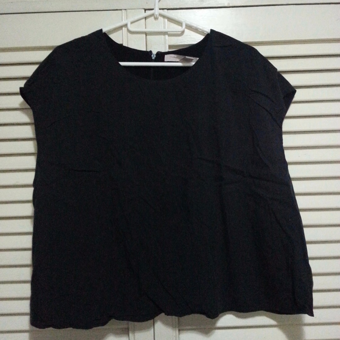 Forever 21 Off-black Blouse